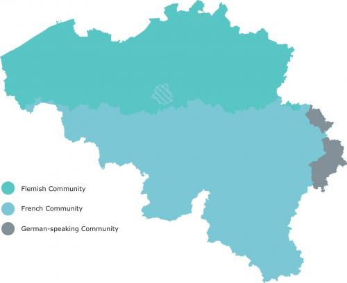 map of belgium community